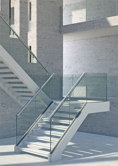 Beautiful combination of concrete, aluminium and glass railing, for an aesthetical and functional result  _