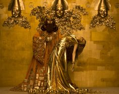 Models Recreate Gustav Klimt's Golden Paintings | Hi-Fructose Magazine