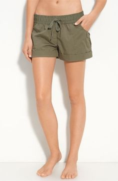 "Nordstrom | Stem Cuff Organic Cotton Shorts in ""Dusty Olive"" - StyleSays"