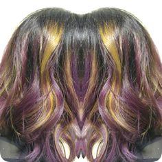 purple yellow hair @alanas_hair