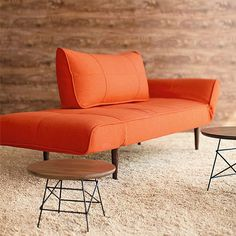 orange daybed - could be fun & unexpected for the guest room