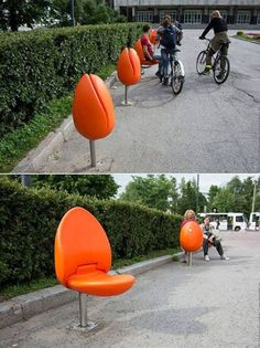 Examples Of Urban Design Which Ought To Be In Every City Smart! A Tulip Seat for Public Spaces (Holland) MoreSmart! A Tulip Seat for Public Spaces (Holland) . Urban Furniture, Street Furniture, Furniture Design, Chair Design, Patio Design, Outdoor Art, Outdoor Seating, Outdoor Patios, Outdoor Rooms