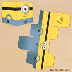 minion treat boxes FREE Printable Despicable Me Minion Treat Box