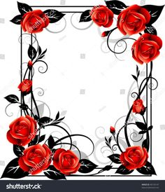 Frame with roses