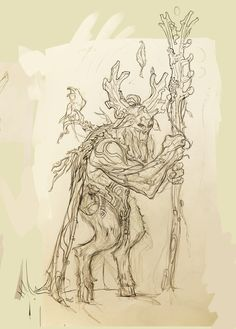 Nature Guardian sketches for the game Spellsouls. Creatures, Sketches, Artwork, Nature, Drawings, Work Of Art, Naturaleza, Auguste Rodin Artwork, Artworks