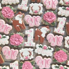 oh deer! olivia is 1 🦌🎀 I made cookies for the baby shower last year. same theme, new cookies! swipe to seeee ⬅️ . 1st Birthday Cake For Girls, First Birthday Party Themes, Birthday Decorations, Birthday Ideas, Bambi, Deer Baby Showers, Elephant Birthday, Baby Shower Cookies, Oh Deer