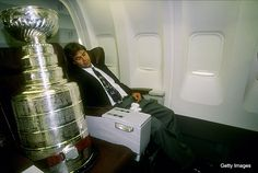 Stanley Cup sleeping!