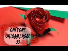 達人折りのバラの折り紙33 Only one origami rose33 - YouTube
