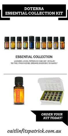 The best way to purchase Doterra Essential Oils is to create your own wholesale account so you will get 25% off the retail price. The Essential Collection Kit is a great start for those new to essential oils.  They are 5ml bottle & it includes a FREE 15ml Smart and Sassy oil. Connect with my website to learn about Doterra's Loyalty Program so you can receive extra FREE oils & products. $174 au,