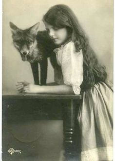 Etsy の Fox and Girl Unusual Vintage Photography by EclecticForest