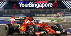 Sebastian Vettel won the Singapore Grand Prix ahead of Daniel Ricciardo and Kimi Raikkonen. Ferrari, Singapore Grand Prix, F 1, Racing, Tom Brady, Sports, Singapore, Running, Auto Racing