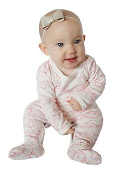 Owlivia Baby Organic Cotton SnapUp Sleep N Play Footed Overall 36 Months Pear * Click on the image for additional details.-It is an affiliate link to Amazon.