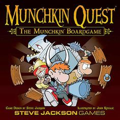 Possibly my next purchase. Munchkin Quest - Explore the dungeons, fight monsters, collect loot and try to escape the dungeon. This is a great game for all the Munchkin fans out there, adding a bit of complexity to the game. WARNING: It does take a good 3+ hours to play usually, so make sure you have a full afternoon free to play.