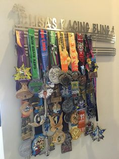 Love the way these medals are displayed!