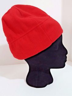 Beanie Hat Fleece Old Navy Womens Red One Size Fits All Clearance  64afebaa1d35