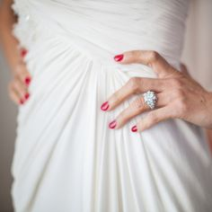 Rocking red wedding day nails has never been easier thanks to these expert tips. Wedding Nail Colors, Wedding Day Nails, Wedding Nail Polish, Red Nail Polish, Wedding Day Checklist, Wedding Planning, Event Planning, Black Tie Wedding, Fall Wedding