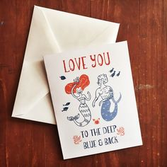 Valentine's cards for the mermaid at heart are now available! XO