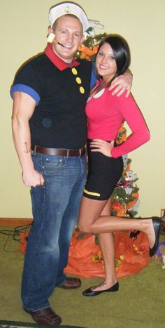 Popeye & Olive Oyl Homemade Costumes LB! make it happen for next year!