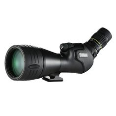 Vanguard Endeavor HD 82A The optical system employs extra-low dispersion glass (ED) to ensure accurate color rendition and virtually eliminate color fringing.    Angled View Eyepiece  20-60x Eyepiece Magnification  Extra-Low Dispersion Glass Elements  Fully Multicoated Optics  Nitrogen-Filled Fogproof / Waterproof  Magnesium Housing  Tripod Mounting Shoe  Rubber Armored Body  Stacked Fine / Coarse Focus Controls  Built-In Sunshield    http://zambesi.co.za/index.php/product/