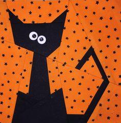 Kit Cat Paper Pieced Block Pattern | Craftsy