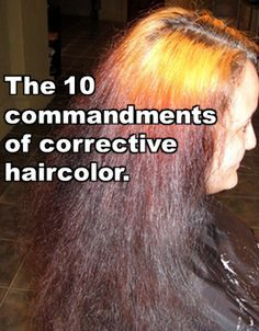10 rules of hair colour correction, things to consider before going lighter, perth hair colourist Bleach Bath Hair, Cheveux Oranges, Color Correction Hair, Hair Color Remover, Hair Color Techniques, How To Lighten Hair, Business Hairstyles, Bleached Hair, Hair Colorist