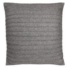 Kudde Rand Grå 50x50cm - Granit