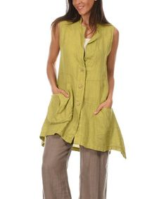 Love this Anise Berenice Linen Button-Up Tunic by 100% LIN BLANC on #zulily! #zulilyfinds