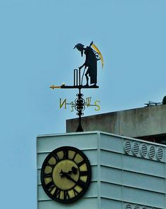 Old Father time weather vane....