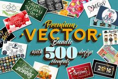 Start the love season with a brand new quality vector bundle that includes 500 design elements from Valentine's Day to Easter, Mother's Day, 4th of July and New Year's Eve celebration. These illustrations, labels and posters are just perfect for creating everything from holiday cards to advertisements. Get all 500 high-quality design elements for only $25!