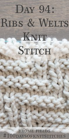 Horizontal Wave Pattern Knit Stitch Video by Brome Fields Knitting Stiches, Knitting Videos, Knitting Patterns Free, Crochet Stitches, Stitch Patterns, Knit Patterns, Loom Knitting, Hand Knitting, Yarn Projects