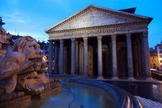 Pantheon at sunrise, Rome, Italy