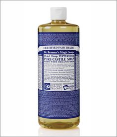 Dr. Bronner's Peppermint Liquid Soap - This stuff will get anything clean and all the writing in on the bottle is good for a smile and a chuckle.
