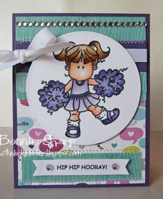 WT388-Cheerleader Brat! by eggette - Cards and Paper Crafts at Splitcoaststampers