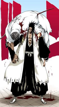 Kenpachi can make a killer Quincy kabob. Bleach Manga, Bleach Fanart, Bleach Characters, Manga Characters, Manga Anime, Anime Art, Shinigami, Manga Drawing, Manga Art
