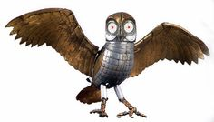 Ray Harryhausen's Bubo, the mechanical owl, in Clash of the Titans...