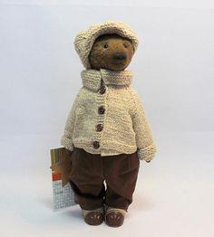 teddy teddy bear bear bear in clothes handmade toy gift handmade handmade gift bear boy collectible toy single instance author's toy
