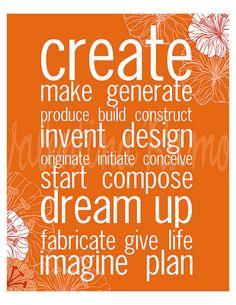 create - dream up - imagine & plan