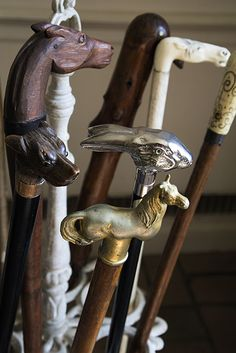 Photo Credit: Courtesy of Sotheby's. A group of vintage walking sticks. For the country Gentleman