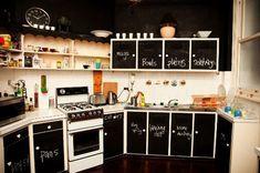 Tunear la cocina con pintura de pizarra