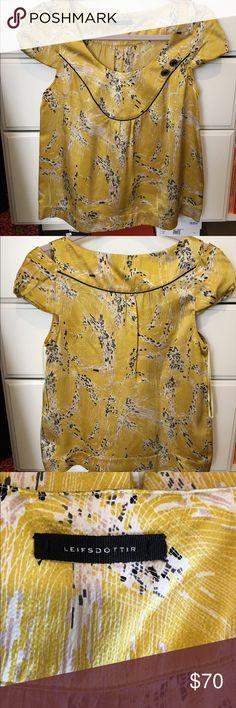 Leifsdottir Top 💯 % silk shirt in like new condition! Anthropologie Tops Tees - Short Sleeve