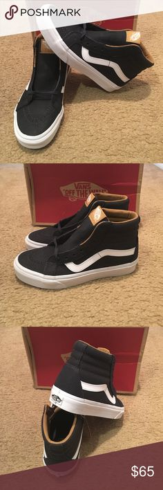 Premium Leather SK8-Hi Reissue Vans New in box. Parisian Vans Shoes Sneakers