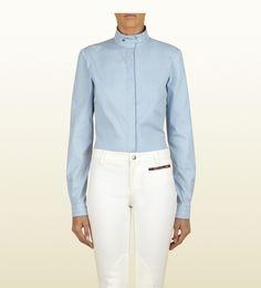 #gift Gucci camicia azzurra a manica lunga collezione equestrian blu