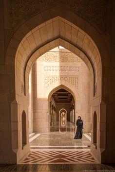 Oman travel - Muscat - Sultan Qaboos Grand Mosque