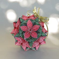Origami Christmas Bouquet + TUTORIAL
