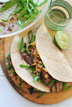 Spicy Steak Tacos with a Grilled Tomato and Chard Salsa