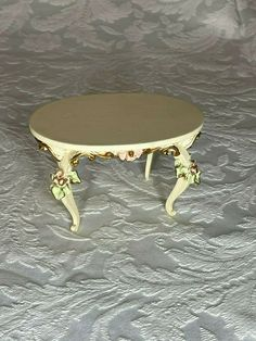 Vtg Dollhouse miniature Victorian chairs bed dresser table curio cabinet accessories