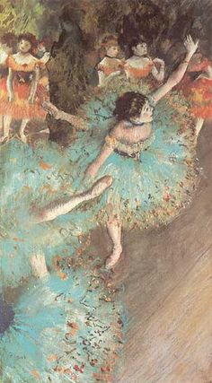 the green dancer- edgar degas