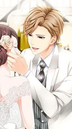 Anime Couples Voltage Inc. / Kissed By The Baddest Bidder - Ota Kisaki Anime Couple Kiss, Manga Couple, Anime Couples Manga, Cool Anime Guys, Handsome Anime Guys, Anime Cosplay, Magic Anime, Wedding Couple Cartoon, Anime Wedding