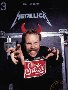 James Hetfield/Metallica. Sould his soul to satan in exhange for fame, money, richness, adoration of people and talents (like voice). The price of that will be huge...these things don't last forever. How stupid and selfish people can be....
