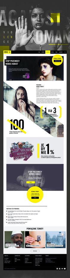Amnesty International Webdesign on Behance